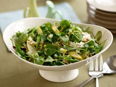 Blue Cheese Salad : Top a crunchy pear, watercress and arugula salad ...