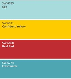 Red Room Decor, Red Living Room Decor, Yellow Home Decor, Bedroom Turquoise, Bedroom Red, Blue Yellow Kitchens, Red Yellow Turquoise, Mustard Yellow Walls, Red Color Schemes