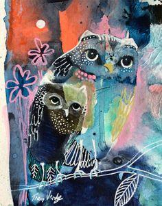 My Owl Barn: Tracy Verdugo's Happy Artwork