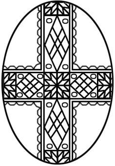 A pretty cross to color.