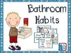 for the Bathroom This file includes cute signs for bathroom procedures.This file includes cute signs for bathroom procedures. Bathroom Procedures, Classroom Procedures, Classroom Organization, Classroom Management, Preschool Procedures, Classroom Routines, Classroom Design, Classroom Bathroom, School Bathroom