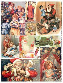 Christmas Dolls Collage Sheet