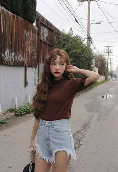 Check out this Fashionable casual korean fashion - Hair Style Ulzzang Fashion, Asian Fashion, Girl Fashion, Ulzzang Style, Brown Fashion, Fashion Hair, Trendy Fashion, Style Fashion, Make Up Looks