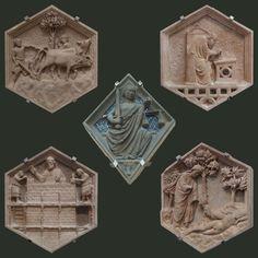 Firenze - Formelle e Losanghe Campanile di Giotto - Giotto e Andrea Pisano
