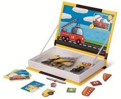 Ausgefallenes Spielzeug Magnetspiel Fahrzeuge, toll für unterwegs, von Janod