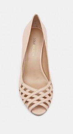 Peep toe heels - Lucie - Frappe