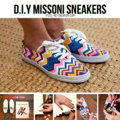 DIY missoni sneakers
