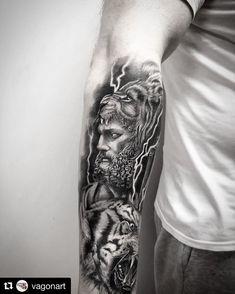 "vagonart tattoo piercing on Instagram: ""#tattoo #tattoos #herculestattoo #hercules #tigertattoo #mythology #mythologytattoo #armtattoo #blackandgreytattoo #tattoodesign…"" Tiger Tattoo, Arm Tattoo, Sleeve Tattoos, Hercules Tattoo, Mythology Tattoos, Black And Grey Tattoos, Piercing, Tattoo Designs, Portrait"