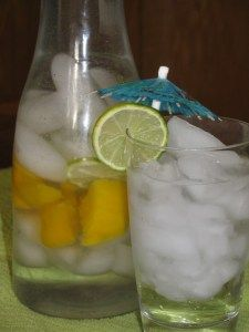 DRINK MORE WATER=LOSE MORE WEIGHT! Like this ZERO CALORIE Day Spa Mango Mojito…