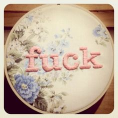 Fuck embroidery