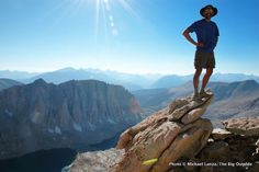 Ultralight backpacking the John Muir trail -- At Trail Crest on Mount Whitney, on the John Muir Trail.