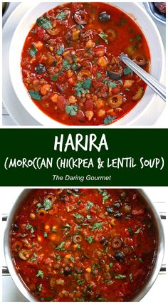The national soup of Morocco, this Harira recipe is a total flavor explosion. It's no wonder it's such a popular soup, it will WOW your taste buds! Best Soup Recipes, Vegetarian Recipes, Cooking Recipes, Healthy Recipes, Chowder Recipes, Slow Cooking, Meat Recipes, Yummy Recipes, Kitchens