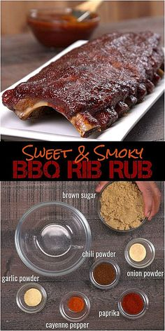 Oven Baked BBQ Ribs with Homemade Dry Rub & BBQ Sauce Recipe - - No barbecue pit? No problem. You can make fall-off-the-bone tender ribs in the oven with our melt-in-your-mouth homemade dry rub and easy bbq sauce recipe. Dry Rub Recipes, Sauce Recipes, Pork Recipes, Cooking Recipes, Bbq Rib Dry Rub Recipe, Pork Ribs Rub Recipe Brown Sugar, Recipe For Pork Ribs, Cooking Games, Grilling Recipes