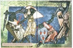 12th century German knights in combat