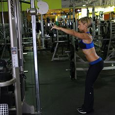 Lats - Straight Arm Pull Downs Lat Workout, Workout Guide, Workout Videos, Workout Plans, Exercise Videos, Butt Workouts, Training Plan, Weight Training, Straight Arm Pulldown