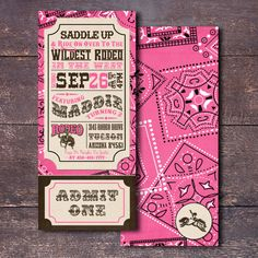 Cowgirl Invitation, Printable Cowgirl Invitation, Pink Cowgirl Invitation, Pink and Brown western Invitation, Girl Western Invitation - kroward. Rodeo Birthday, 1st Birthday Girls, Third Birthday, Birthday Ideas, Birthday Parties, Rodeo Party, Cowgirl Party, Rodeo Cowgirl, Cowgirl Invitations
