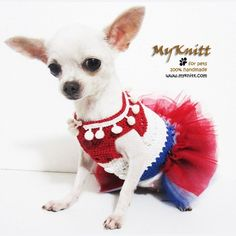 Brand New Unique Handmade Crochet USA Dog Tutu Dresses. Purchasing 2 or more dog clothes, item will be shipped using EMS which only takes 3-7 business days. A must have item, Super cute.