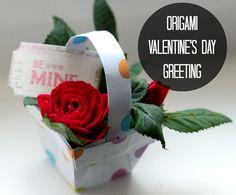 Origami Basket | http://wehearthome.de/diy-valentinstag-origami/