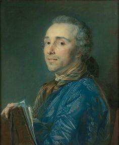 Portrait de Aignan-Thomas Desfriches, avec un portefeuille, 1751 Jean-Baptiste Perronneau