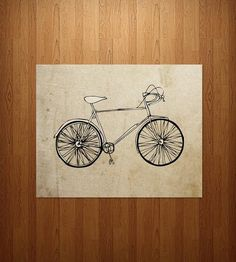 my daddy would love thisssss Vintage Bicycle Art Print by Nan Lawson on Scoutmob Shoppe