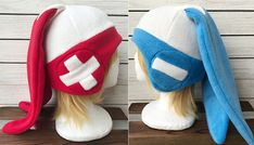 Plusle or Minun Pokemon Hat Fleece Hat Adult Teen Kid