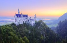 """Nestled on a cliff top in the picturesque Bavarian Alps, Schloss Neuschwanstein embodies the romance of a bygone era. No wonder more than a million people visit """"the castle of the fairy-tale king"""" each year. The Places Youll Go, Great Places, Places To See, Beautiful Castles, Beautiful Places, Romantic Places, Ohio, Germany Castles, Neuschwanstein Castle"""