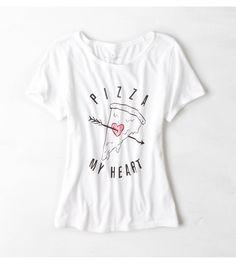 White  AEO Statement Graphic T-Shirt