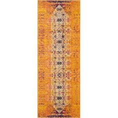 A distressed Persian-inspired motif gives this multicolor rug an artful look that elevates any space. Use it to anchor a bold boho arrangement in the living room or to level out an understated den ensemble.