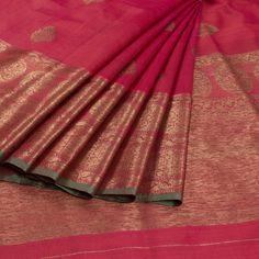 Shivangi Kasliwaal Magenta Handwoven Banarasi Tussar Silk Saree With Buti Motifs 10008758 -  - AVISHYA.COM