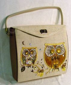 Everyone loves the owls.  Vintage Town &Country DIY purse.