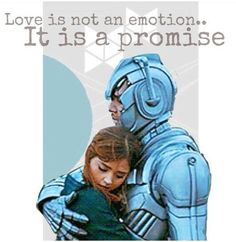 Love is not an emotion...it is a promise. Good glob this episode. Capaldi and Clara are glorious. Death in heaven doctor who.