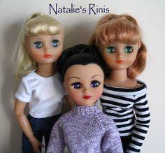 My 3 Rini Dolls - Darlene, Iris, and Judy.