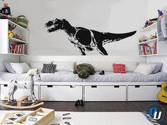 T-Rex - Removable Vinyl Wall Decal Art Decor Sticker Mural Modern Trex Dinosaur Kids. $49.99, via Etsy.