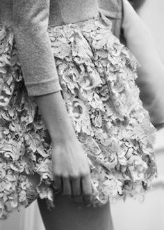 lace skirt.