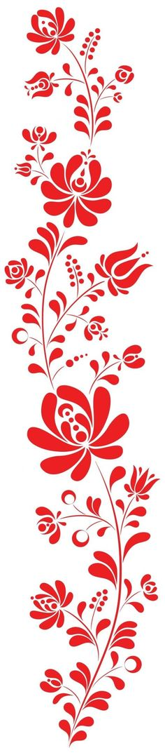 Stencil Patterns, Embroidery Patterns, Hand Embroidery, Stencil Designs, Textile Patterns, Stencils, Hungarian Embroidery, Motif Floral, Fabric Painting