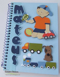 fun-ideas handmade: Caderno Mateus