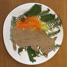 Autumn Leaves Squirrel Collage Arts and Crafts , autumn crafts for toddlers leaf…