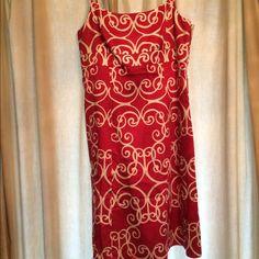 NWOT Dress NWOT Ann Taylor red 8petite spaghetti strap dress with side zipper & eye/hook closure. Ann Taylor Dresses