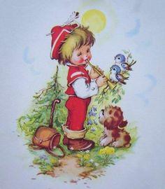 Vintage Abbildungen, Sarah Kay, Chubby Cheeks, Vintage Christmas Cards, Vintage Pictures, Vintage Children, Cute Kids, Disney Characters, Fictional Characters