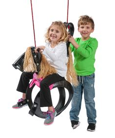 Loving this Pony Pal Tire Swing on #zulily! #zulilyfinds