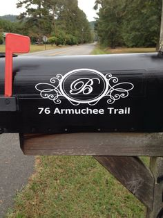 Mail box decal by CindyBsCrafts on Etsy
