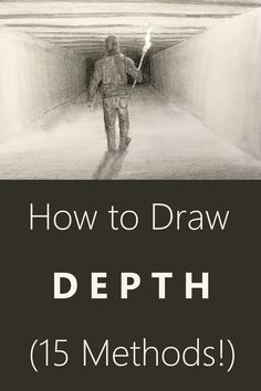 Drawing tutorial for creating depth. 15 Proven ways including examples. Pen drawing and pencil drawing guide. Drawing tutorial for creating depth. 15 Proven ways including examples. Pen drawing and pencil drawing guide. Easy Pencil Drawings, Art Drawings Sketches, Pencil Drawing Tutorials, Art Illustrations, Drawing Techniques Pencil, Perspective Drawing Lessons, Drawing Skills, Drawing Guide, Canson
