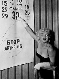 Marilyn Monroe at a Stop Arthritis benefit, 1955.