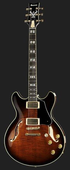 Guitarra Eléctrica  John Scofield Signature, Semi acústica, Tapa de arce flameado, Fondo y aros de arce, Mástil de caoba encolado, 22 trastes Jumbo, Diapasón de ébano, Pearl/Abalone Block Inlays, Puente G510BN, Hardware dorado, 2 IBZ Super 58...