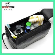 Men Wash Bag Leather Admission Package Travel Cosmetic Bags Man Waterproof Toiletry Kits Organizador Trousse De Toilette Luxury