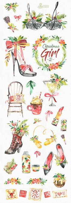 This Christmas Girl set of 35 high quality hand painted watercolor graphics. Perfect graphic for Christmas project, greeting cards, photos, posters, quotes and more. ----------------------------------------------------------------- INSTANT DOWNLOAD Once payment is cleared, you can download your files directly from your Etsy account. ----------------------------------------------------------------- This listing includes: 35 x Images in PNG with transparent background, different size appro...