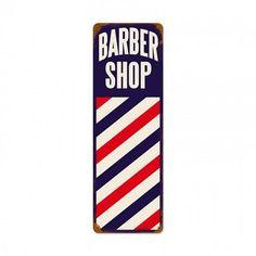 Barber Shop Pole, Vintage Style, Vintage Fashion, Barbershop Design, Garage Art, Home Decor Wall Art, Metal Signs, Vintage Signs, Canvas Art
