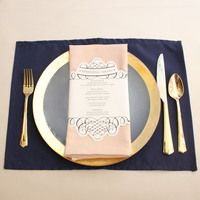 Navy Blue Placemats, Wholesale Fabric Placemats for Hotels, Restaurants and Weddings