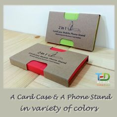 2-in-1 Card Case * Phone Stand