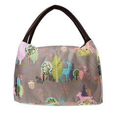 FackFace® Sac de Repas Isotherme Oxford Imperméable Portable Imprimé Bag Lunch Sacoche à Déjeuner Fraîcheur Pour Ecole/ Travail/ Maternity/…